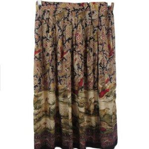 Gregory Designs Birds Paisley Pleated Skirt 12